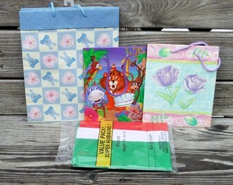GIFT BAGS, and TISSUE Paper, Gift Wrap, Assorted Gift Bags,