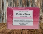PINK BERRY MIMOSA ~ Soap ~ Bar Soap ~ Homemade Soap ~ Goat Milk Soap ~ Handcrafted Soap