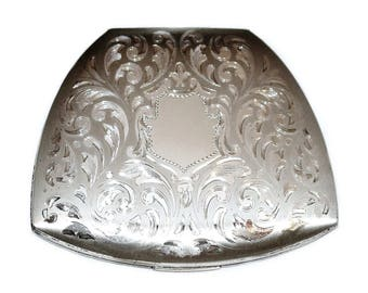 Elgin American Sterling Compact w/ Case - Vintage Collectible Compact - Bridal Gift - Collectible Compacts - Gifts for Her