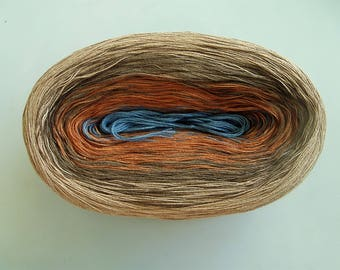 MONGOOSE II -- 150 gr/720 yards -- Color Changing Cotton yarn --  Fingering Weight