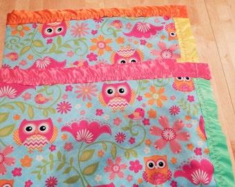 A Rainbow of Owls Blanket