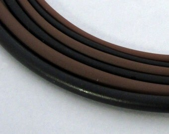 Rubber Collar, Black, Brown, 2mm, 3mm, 4mm, Rubber Necklace, Rubber Cord, Sterling Silver