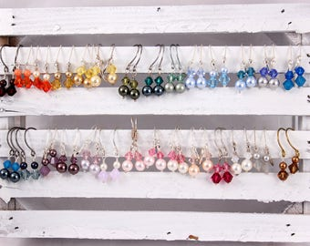 Little Girl Earrings - You Choose Color and Ear Wires, 2 pair
