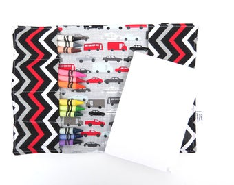 Crayon Notebook - Gridlock - Coloring Folder Car Crayon & Notepad Set, artfolio crayon folder kids drawing folder
