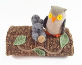 hollow log animal den, Waldorf toy, eco friendly toy, natural toy, waldorf animal home