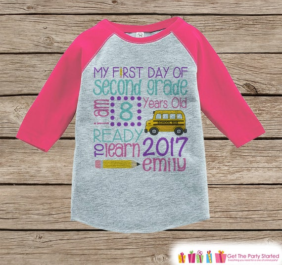 First Day Of Second Grade Shirt Girl Back To School Shirt