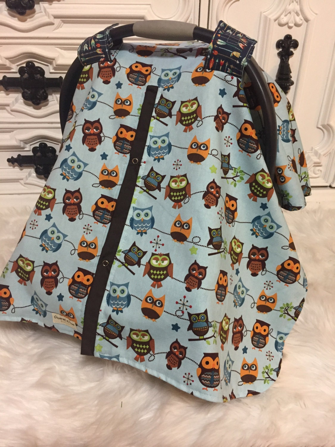 owl car seat cover / carseat cover /carseatcover /carseat canopy / owl / boy car seat canopy & owl car seat cover / carseat cover /carseatcover /carseat canopy ...