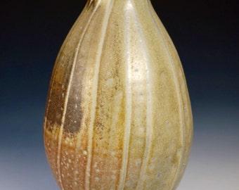 Bud Vase, Bottle, Vase, Liquor Bottle, Whiskey, Woodfired Porcelain Blend Ceramic Pottery by Justin Lambert
