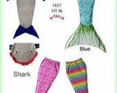 Lined and super soft, very warm  shark blanket/bag-monogrammed personalized  FREE SHIPPING- only one left!  Very popular!