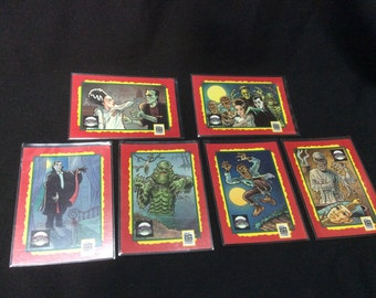 Impel Universal Monsters Trading card set of 6 - 1991
