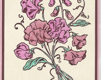 Flower of the Month-April's Sweat Pea