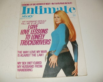 Vintage Intimate Story Magazine February 1975 - Spicy Love Stories, Hair Styles, Ephemera, Romance