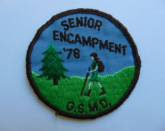 Vintage Girl Scout Badge Patch Hiking Camping Metro Detroit c. 1970s