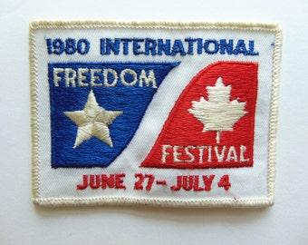 Vintage Detroit International Freedom Festival Patch Badge c. 1970s
