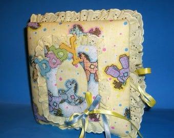 Fabric Photo Baby Album Horse Design Nursery Baby Shower