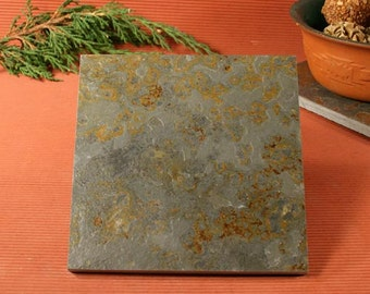 Slate Trivet / Hot Plate - Sandcarved on Copper Slate