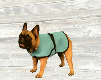 French Bulldog Cool Coat, custom made just for your dog with tummy cooler for extra cooling
