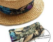 Wrap Around Puggaree Ribbon Hat Band for Hat Making / Millinery - Tropical