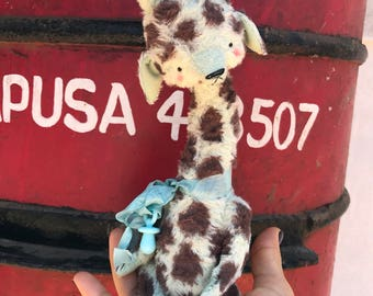 MADE TO ORDER 9 inch Artist Handmade Mint Baby Giraffe by Sasha Pokrass