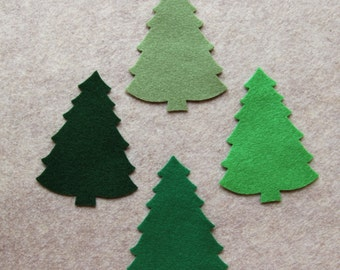O Tannenbaum - Large Christmas Trees #2 Value Pack - 36 Die Cut Acrylic Felt Shapes