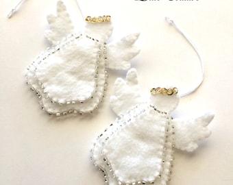Felt angel decoration White angel ornament Christmas angel decoration White angel Christmas decoration felt Christmas ornaments