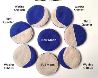 Science, Moon, personalized, birthday, Mothers Day, Easter, Children, moon, crescent moon, Gifts, felt, ornaments, bridesmaids, lunar