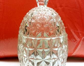 Vintage Crystal Pineapple Lidded Candy Jar