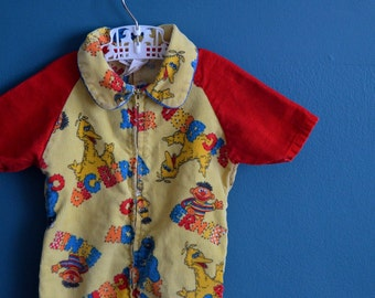 Vintage Baby's Sesame Street Corduroy Jumpsuit - Size 12-18 Months