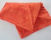 Extra Large Hot/Cold Rice or Flax Seed Back Bag - Tangerine Orange Hash Check