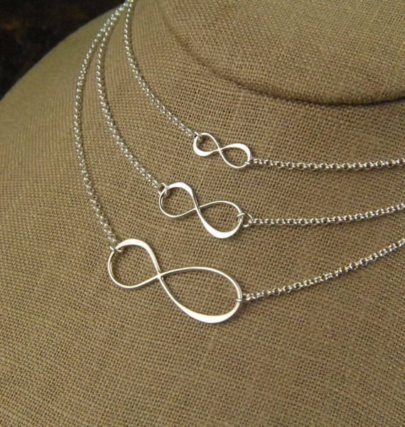 Infinity necklace in sterling silver, infinity necklace, sterling silver infinity, eternity necklace, infinity symbol, simple
