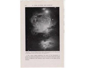 1946 nebula in orion original vintage celestial astronomy print