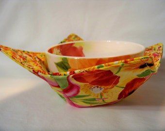 Microwave Bowl Cozy - Pandora - Bowl Pot Holder - Reversible -  Ready to Ship