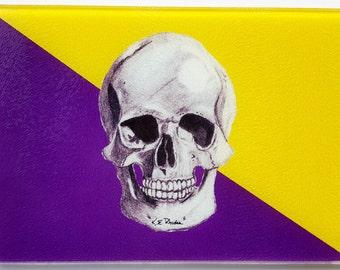 ECU Pirates inspired Cutting Board Cheese Tray Purple and Gold east carolina University