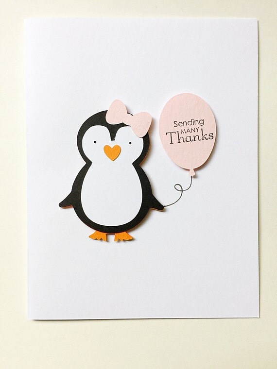 Penguin Thank You Notes. Set of 8 Penguin Party Note Cards. Personalized Stationery. Penguin Birthday. First Birthday. Winter Onederland