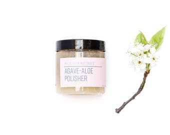 Agave Aloe Polisher/Skin Exfoliator + Face Mask in One.