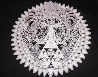 T-Shirt - Fractal of Self (White on Black)