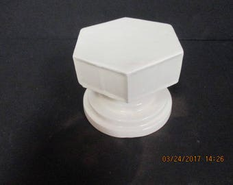 Hexagon Candle Holder - White