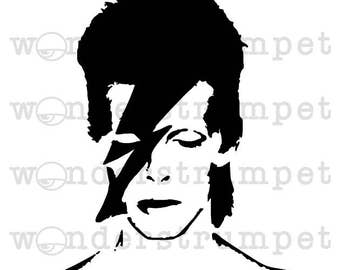 Bowie Face inspired Stencil