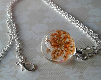 Queen Annes Lace Necklace,Flower Necklace