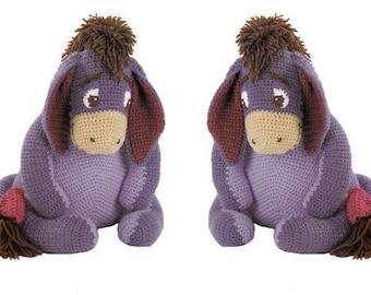"SALE****Crochet Pattern PDF to make A Cute Eeyore A Stuffed Plush Soft Body Toy Animal 17-18"" Seated"