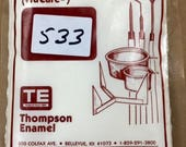 Thompson Enamel, White Liquid Enamel, Sgraffito Enamel, Enameling Supplies, Kiln Enamel, Torch Enamel, Painting with Fire Studio