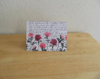 Upcycled Flower Card