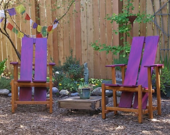 Gorgeous Two-Color Lounge Chair For Garden and Deck - LOCAL PICKUP ONLY - Custom Outdoor Furniture by Laughing Creek
