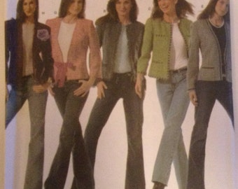 Simplicicty Misses Petite Lined Jacket Sewing Pattern Uncut #4954 12-20