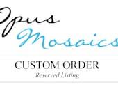 "RESERVED LISTING - Custom Round Mosaic Mirror 29"""