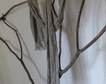 Handmade Linen Scarf --- Natural Dye Free