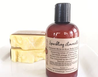 Sparkling Limoncello Body Lotion - Coconut Milk & Aloe Body Lotion with Cocoa Butter