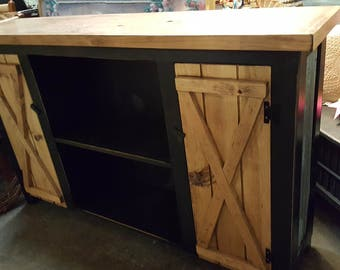FREE SHIPPING Media Console / Farmhouse Furniture / Hallway Table / Tv Stand  / Rustic Furniture