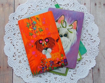 Vintage Playing Cards / Animals / Lot of 10 / Daily Planner / Junk Journal