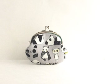 Panda Coin Purse - Change Purse - Mini Pouch - Womens Purse - Coin Pouch - Jewelry Purse - Gift for Her